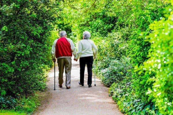 Por que idosos devem caminhar ao ar livre